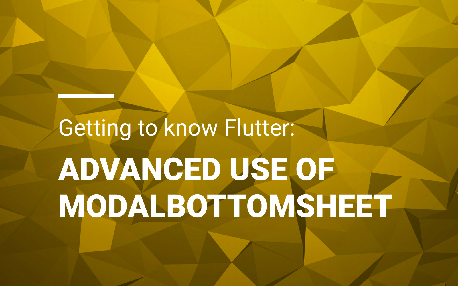 Getting to know Flutter: Advanced use of ModalBottomSheet