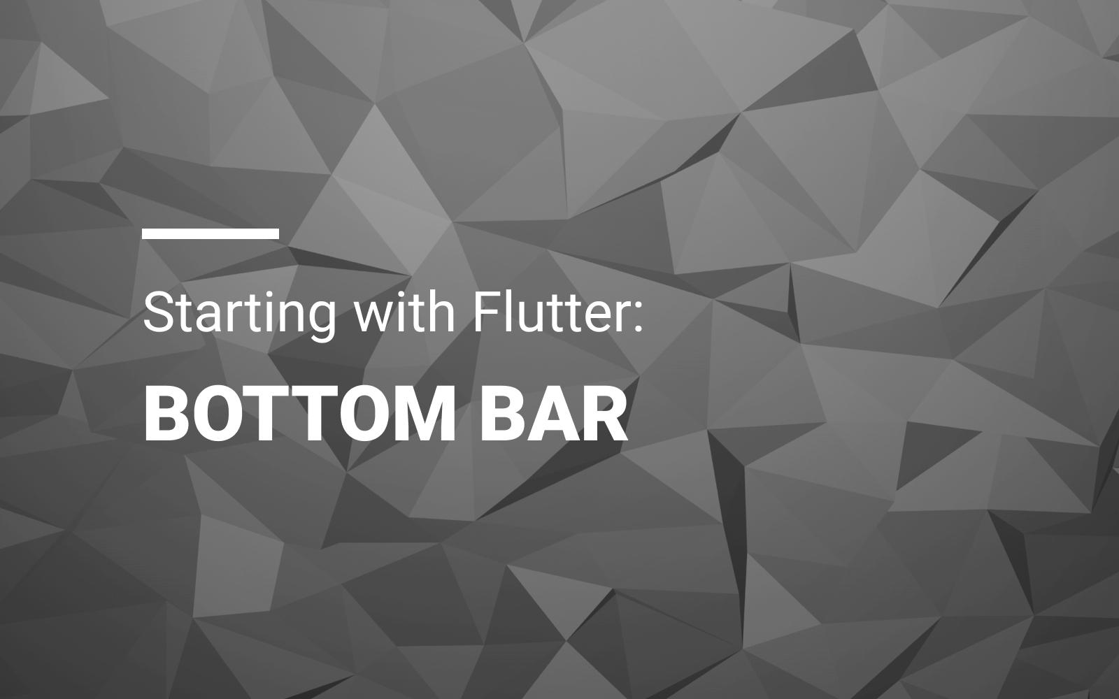 Starting With Flutter: Bottom Bar
